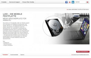 Toshiba: Notebook-Festplatte L200