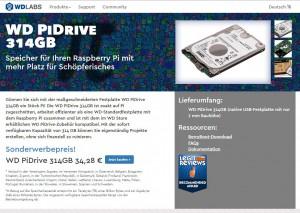 Das PiDrive – die Festplatte speziell für den für Raspberry PI