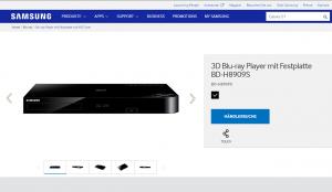 Samsung BD-H8909S: HD-Rekorder und Blu-Ray-Player in einem