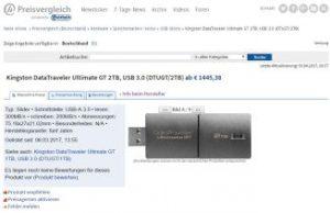 Kingston Data Traveler Ultimate GT 2TB: Der größte USB-Stick der Welt