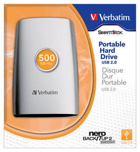 externe Festplatte: Verbatim portable Hard Drive mit 500 GByte