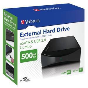 Externe HDD mit USB & eSATA: Verbatim Combo