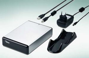 Etwas empfindlich: externe Festplatten Fujitsu Siemens Storagebird 35 EV