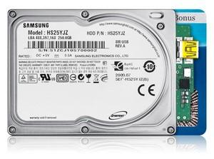 Kreditkarten-Größe: Festplatte Samsung Spinpoint N3U