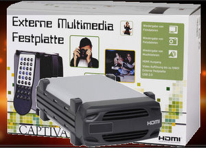 PAL: Captiva externe Multimedia Festplatte