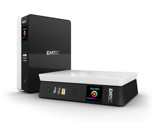 Voller Funktionen: Emtec Movie Cube S 800 H Multimedia Festplatte