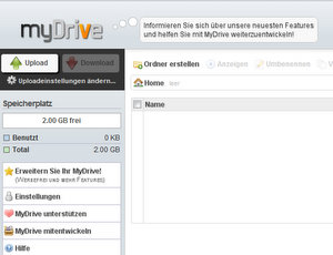 Bequem: Online Festplatte MyDrive