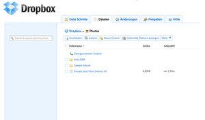online festplatte dropbox