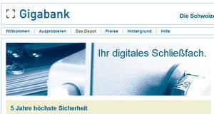Fünf Jahre: Gigabank Online Festplatte