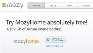 Sichert: MozyHome Online Festplatte