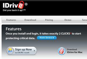 Ausge-file-t: idrive Online Festplatte