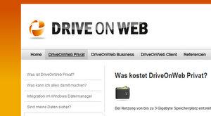 online festplatte drive on web