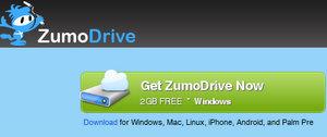 Teil des Programms: ZumoDrive Online Festplatte