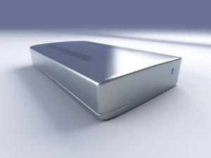 Eine externe Festplatte