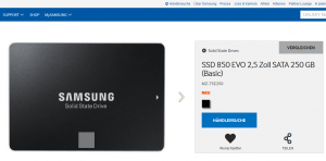 Screenshot SSD EVO